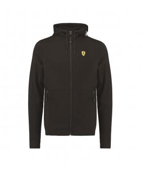Sweat capuche zippé Ferrari noir