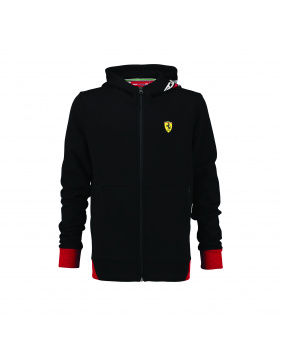 Sweat capuche zippé ML enf Ferrari noir