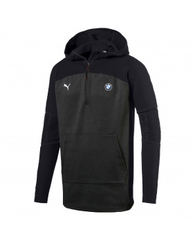 Sweat capuche 1/4 zip BMW Motorsport noir