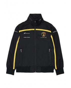 Veste softshell zippée Lamborghini noir et or