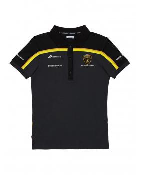 Polo Lamborghini noir et or