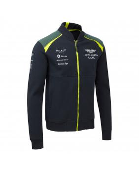 Sweat zippé Aston Martin marine.vert