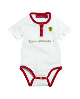 Body bébé n° 1 Ferrari blanc