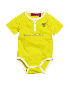 Body bébé n° 1 Ferrari jaune