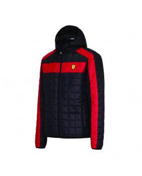 Doudoune capuche femme Ferrari noir
