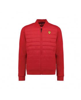 Veste zippée hybrid Ferrari rouge