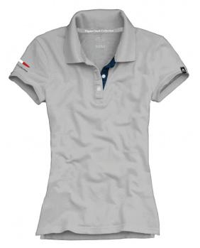 Polo femme logo Pagani gris clair