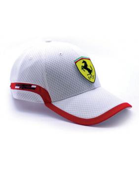Casquette Track Ferrari blanc