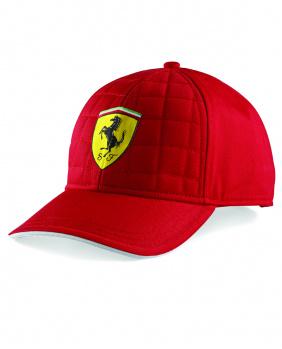Casquette quilt stitch Ferrari rouge