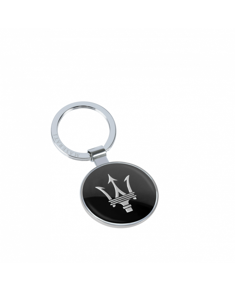 Porte-clé métal Maserati noir