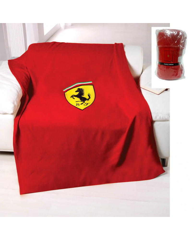 Plaid polaire Ferrari rouge