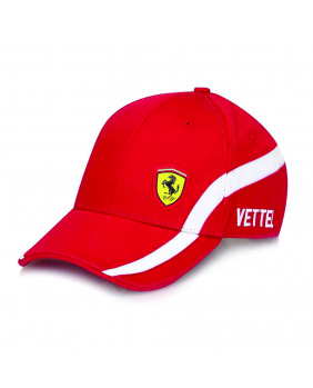 Casquette Vettel Ferrari rouge