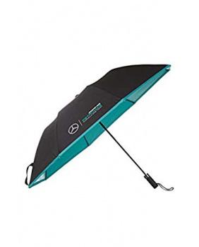 Parapluie compact  Mercedes AMG noir.turquoise