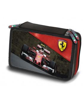 Trousse crayons Ferrari rouge et noir