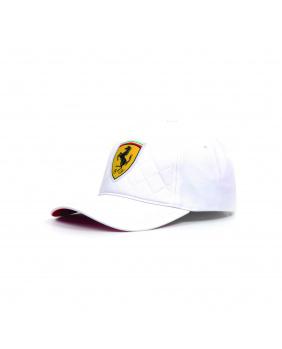 Casquette quilt Ferrari blanc