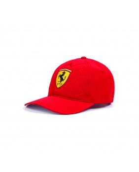 Casquette quilt Ferrari rouge