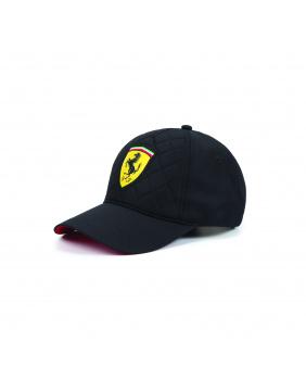 Casquette quilt Ferrari noir