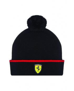 Bonnet enfant Ferrari noir