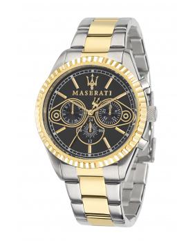Montre aiguilles chrono Competizione Maserati or jaune 43 mm