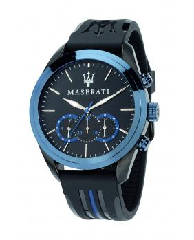 Montre aiguilles chrono Traguardo Maserati noir 45 mm