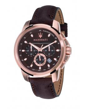 Montre aiguilles chrono Successo Maserati or rose 44 mm