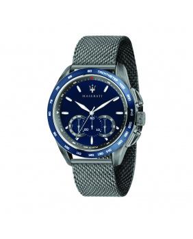 Montre aiguilles chrono Traguardo Maserati bleu 45 mm