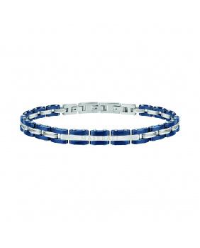 Bracelet acier Maserati bleu.argent