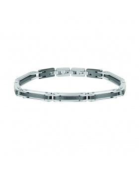 Bracelet acier Maserati argent.gris