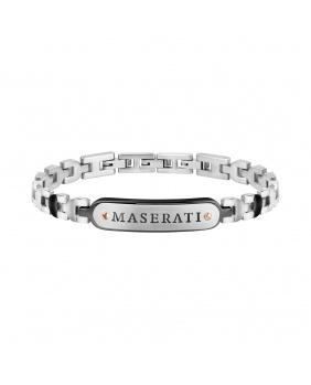 Bracelet acier Maserati noir.argent
