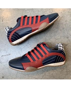 Chaussures Racing sneaker cuir Gulf marine.rouge