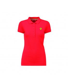 Polo femme classique Ferrari rouge