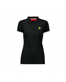 Polo femme classique Ferrari noir