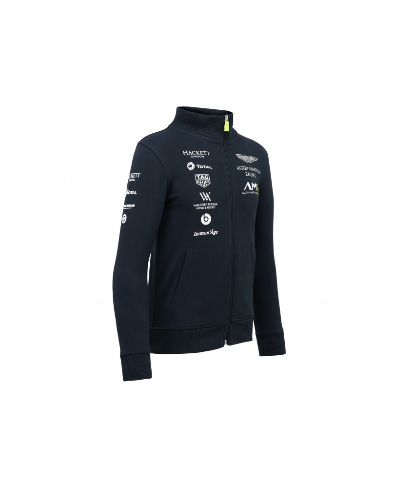 Sweat zippé Team Aston Martin marine
