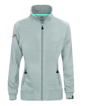 Sweat zippé femme logo Pagani gris clair
