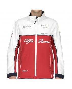 Veste Softshell Alfa Romeo rouge et blanc