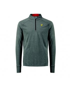 Polo manches longues 1/2 zip midlayer Ferrari gris