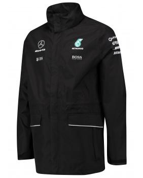 Coupe vent capuche zippé Mercedes AMG noir