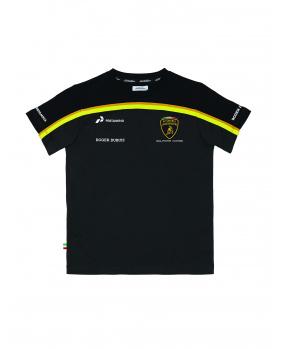 T-shirt Lamborghini noir et or