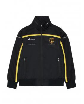 Sweat zippé Lamborghini noir et or
