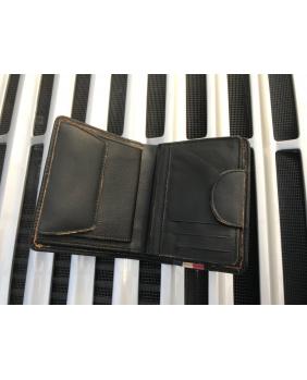 Porte-feuille cuir vintage Gulf noir
