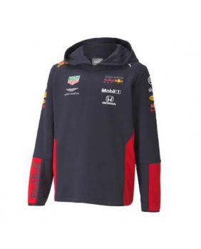 Sweat capuche enfant Red Bull marine-rouge