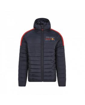 Doudoune zippée capuche Red Bull marine