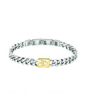Bracelet acier Masérati argent-or