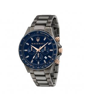 Montre aiguilles chrono Sfida Masérati bleu 44 mm