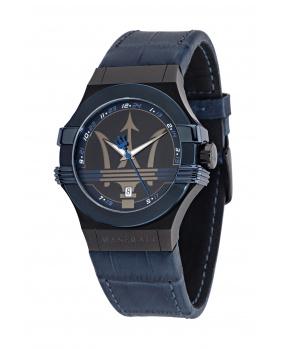Montre aiguilles Potenza Maserati bleu 42 mm