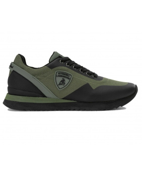 Chaussures Lamborghini vert noir