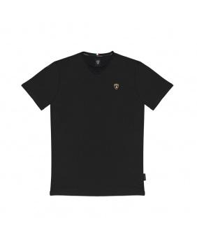 T-shirt logo Lamborghini noir