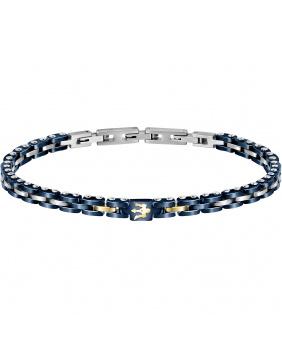 Bracelet Masérati argent.bleu