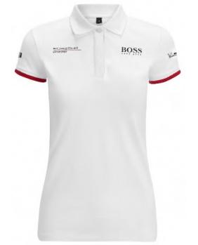 Polo femme Porsche blanc