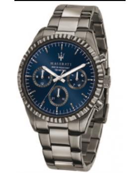 Montre aiguilles chrono Competizione Maserati gris foncé-bleu 43 mm